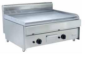 gastro  plynový vařič- hladký  gril 80x70x50