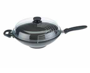 wok 32 cm+ víko a mřížka SKK Titanium 2000 Plus Non-Stick